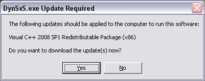 Update Required Dialog