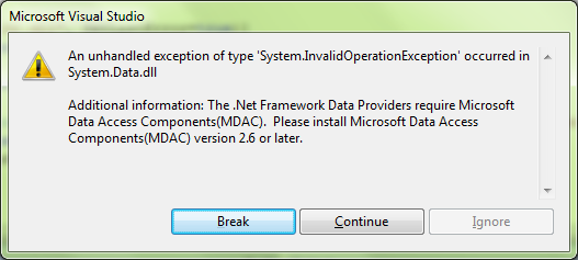 System.InvalidOperationException with misleading error text